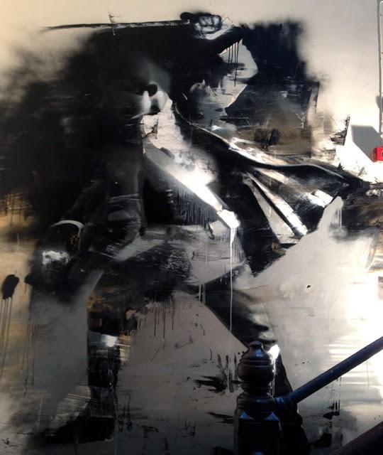 """Conor Harrington """"Dilapidated Swordsman"""" New Indoor Mural In Belfast, Ireland (Part II)"""