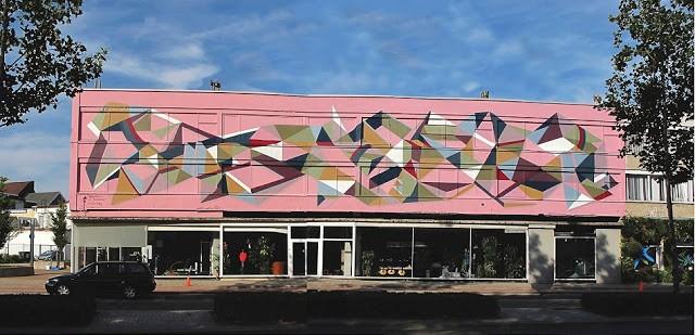 "Christiaan Riffel aka Poeta Paints ""Movement of Ideas"" Mural in Heerlen, Netherlands"