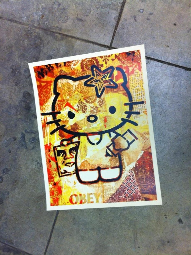 Shepard Fairey Obey Giant Hello Kitty Print