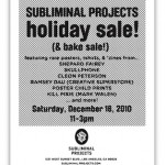 Obey Giant Subliminal Projects Holidays Sale 2010