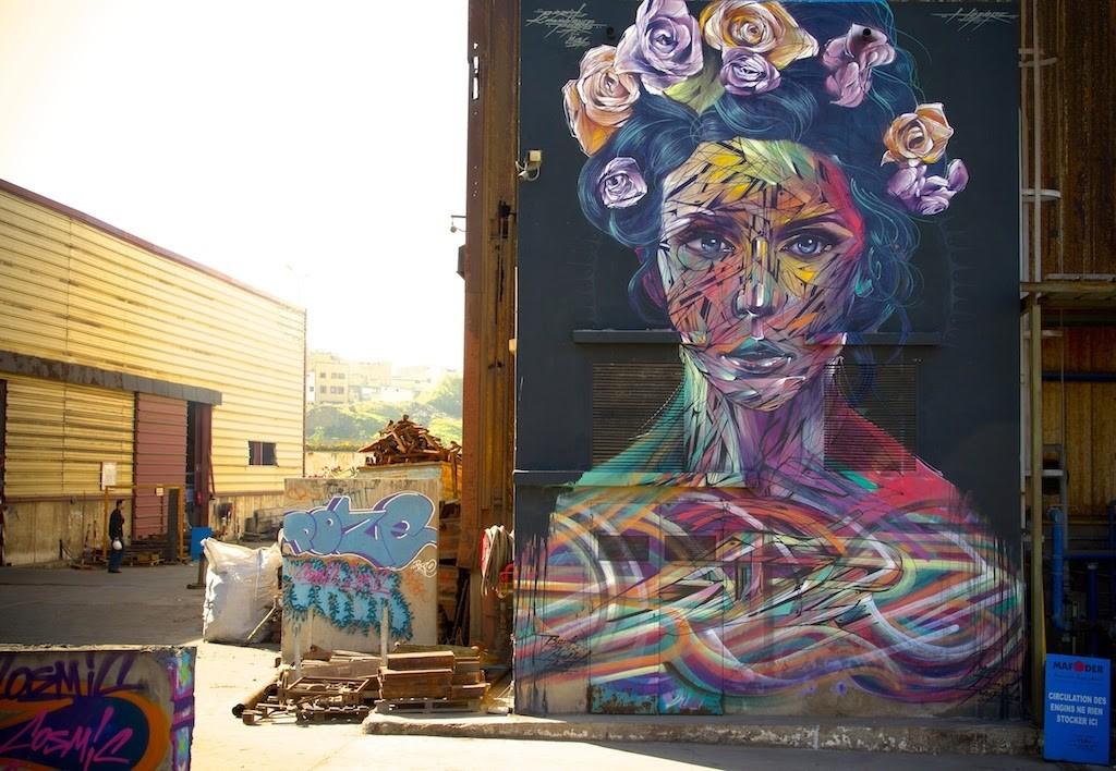 Hopare new mural casablanca morocco streetartnews for Mural street art