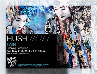 """Hush """"Twins"""" New Solo Show, Los Angeles May 21st"""