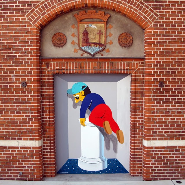 Huskmitnavn Paints a Permanent Mural @ The KØS Museum in Køge, Denmark