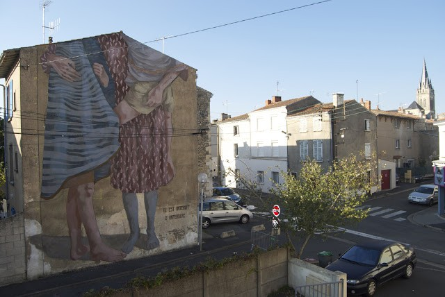 """It's Forbidden To Forbid"", a new mural by Hyuro in Niort, France"