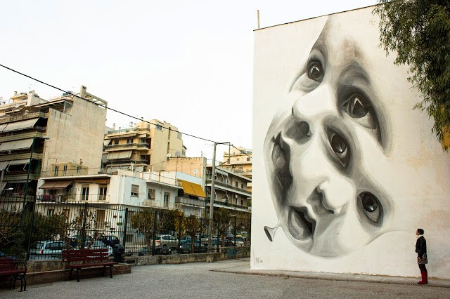"iNO ""No Future"" New Mural – Athens, Greece"
