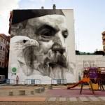 """iNO """"Predators"""" mural for Asalto Festival In Zaragoza, Spain"""