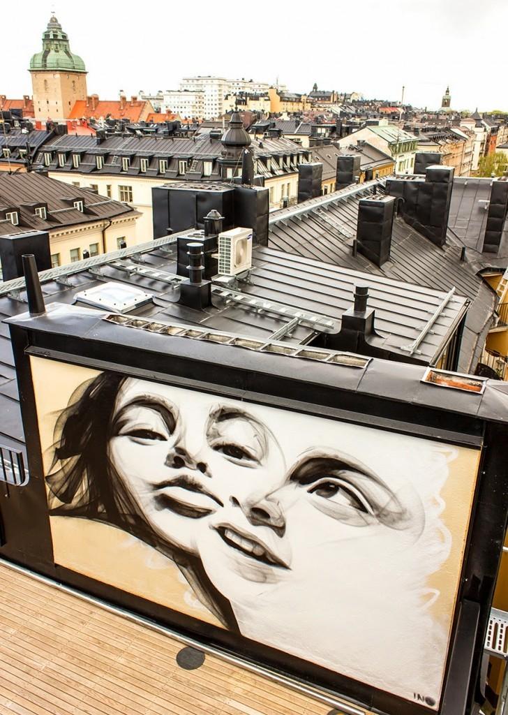 iNO New Rooftop Piece – Stockholm, Sweden