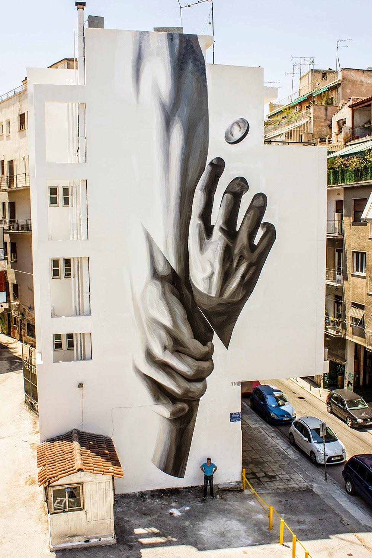Ino wake up new mural athens greece streetartnews for Mural street art