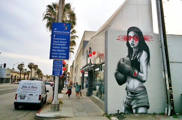 Fin DAC creates a new mural in Los Angeles, USA