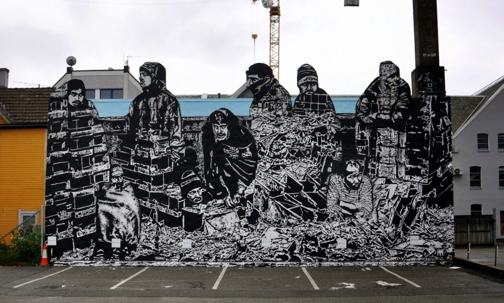 Icy & Sot create a new mural in Stavanger, Norway for Nuart