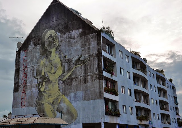 Faith47 unveils a new mural in Papeete, Tahiti