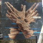 James Bullough creates a new mural in East London, UK
