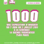 """Space Invader """"1000"""" New Solo Show Paris 7th June"""