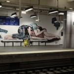 Jana & JS paints a new indoor piece in Paris, France for Quai 36