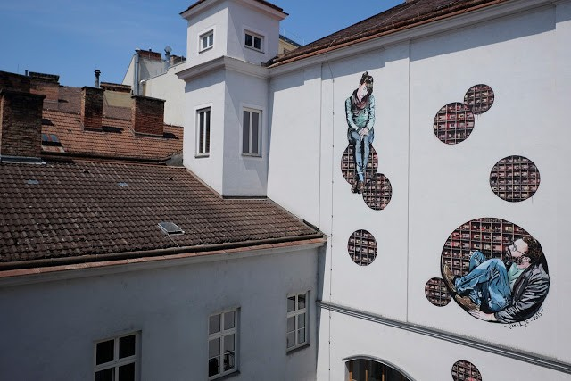 Jana & Js produce a new mural in Vienna, Austria