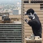 """""""Migrants, Ibrahim, Mingora-Philadelphia"""" by JR in Philadelphia"""