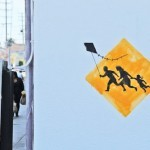 """Banksy """"Elephant Tank"""" and """"Kite"""" New Street Pieces in Los Angeles"""