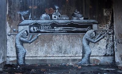 "Phlegm New ""Funeral"" Mural In Sheffield"