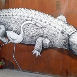 "Liqen ""Brushcodile"" New Mural In San Pedro Pochutla, Mexico"