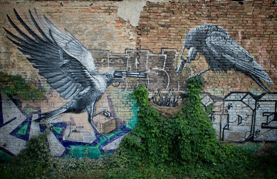 "Lonac creates ""Nest"" a brand new mural in Zagreb, Croatia"