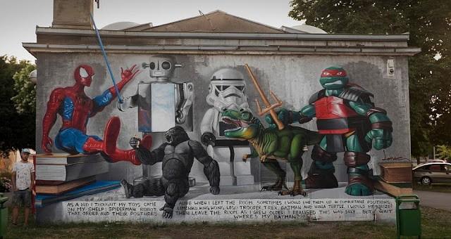 Lonac paints a still life photo realistic piece in Zagreb, Croatia
