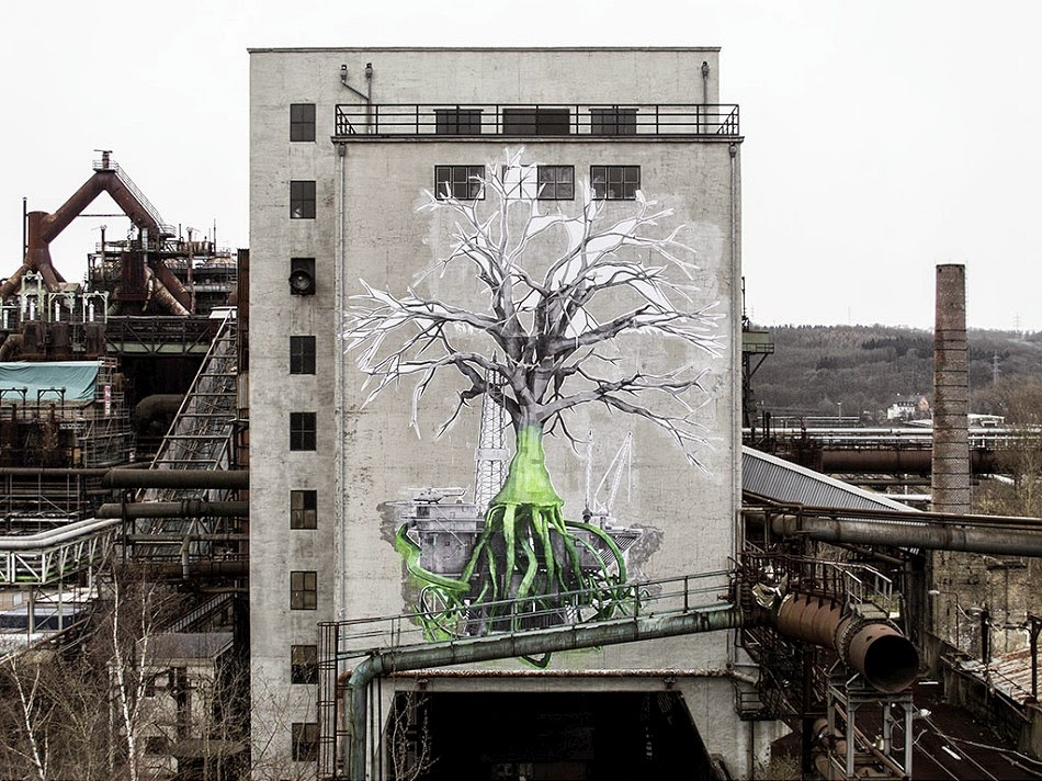 Ludo creates a massive piece in Völklingen, Germany