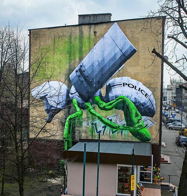 ludo new mural in katowice poland streetartnews streetartnews. Black Bedroom Furniture Sets. Home Design Ideas