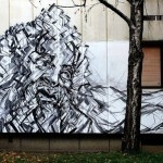 "Luka Rados paints ""Laocoon"", a new piece in Banja Luka, Bosnia"