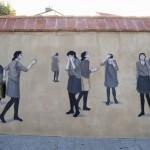 Hyuro New Mural For Biennale d'art contemporain de Perpignan '13 – France