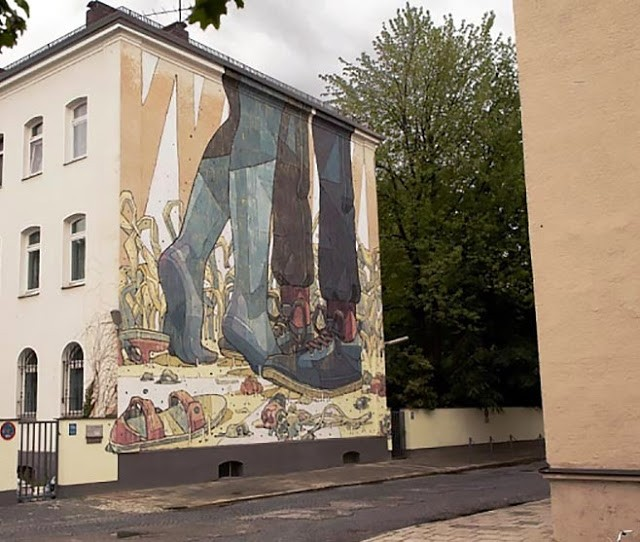 Aryz New Street Art For Positive Propaganda - Munich, Germany