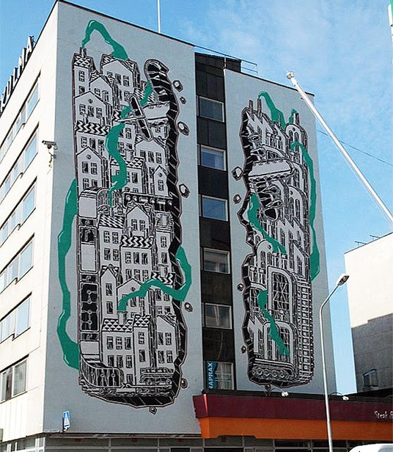 M-City New Mural In Pori, Finland