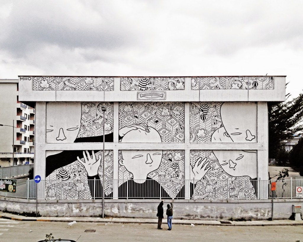 Millo creates a new mural on the streets of Battipaglia, Italy