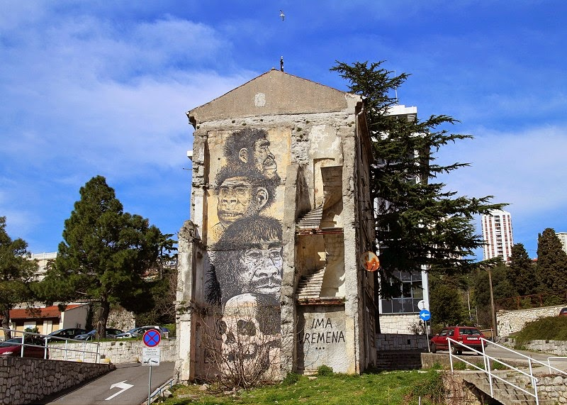 Miron Milic creates a new mural in Rijeka, Croatia
