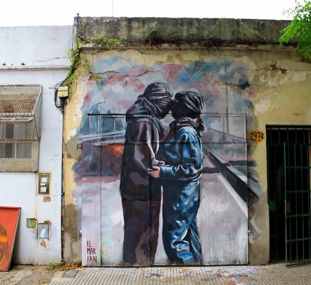 El marian new mural in villa pueyrredon buenos aires for El mural pelicula argentina