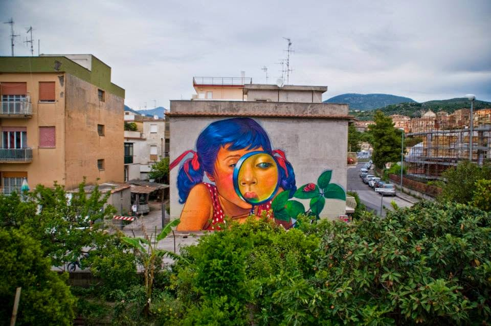 Natalia Rak New Mural For Memorie Urbane – Terracina, Italy