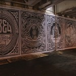 Shepard Fairey New Record Covers Mural @ Navy Pier, Chicago