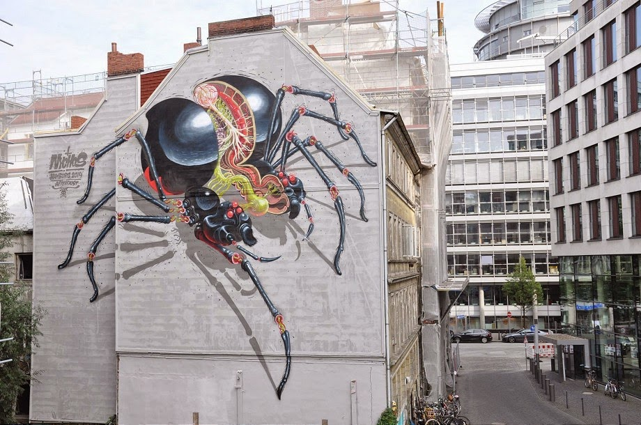 Nychos New Mural for Knotenpunkt – Hamburg, Germany