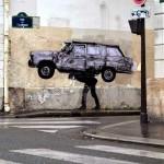 """Levalet """"Impoundment"""" New Street Piece – Paris, France"""
