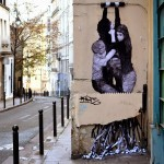 """Levalet unveils """"The Infernal Machine"""" on the streets of Paris in France"""