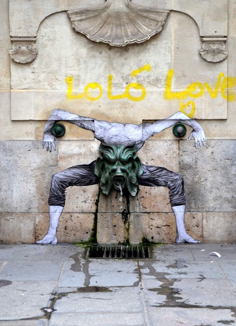 """Nausea"", a new mural by Levalet in Paris, France"