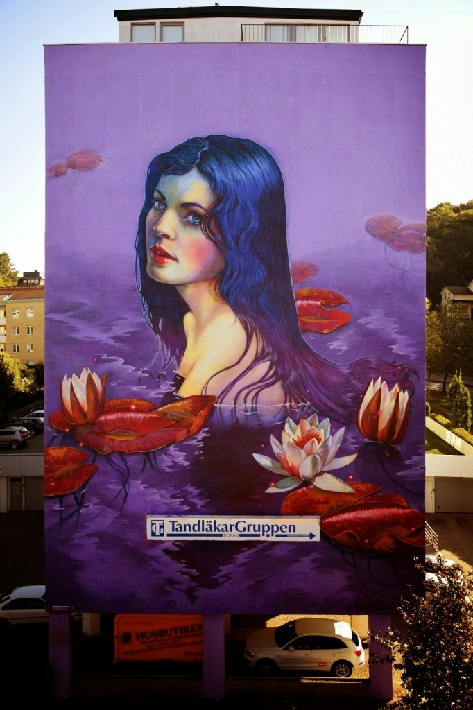 Natalia Rak New Mural For No Limit Boras – Boras, Sweden