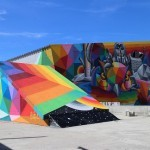 Okuda Paints a Great Mural in Swiss Alps For Vision Art Festival