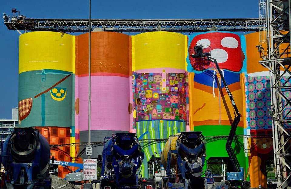 Os Gemeos Work In Progress – Vancouver, Canada