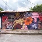 Pastel paints a new street piece in Rio San Juan, Dominican Republic