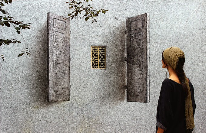 Pejac creates a series of new pieces in Istanbul, Turkey