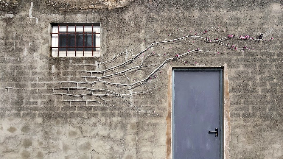 "Pejac paints ""New Order"", a new street piece in Santander, Spain"