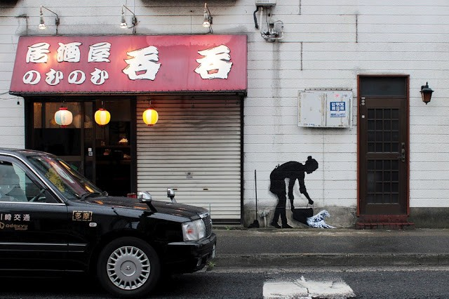 Pejac rounds up his Asian tour with a stop over in Tokyo