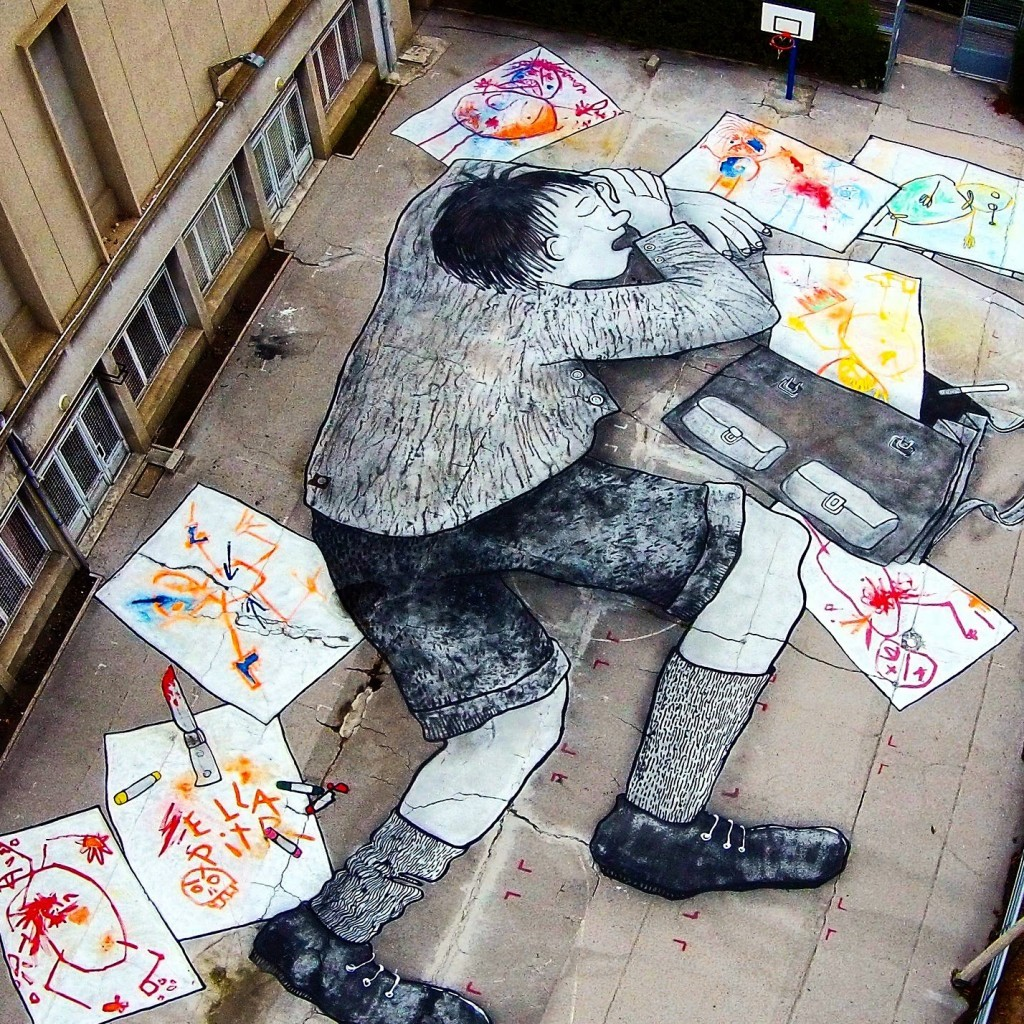 Ella & Pitr create a giant piece in Saint-Etienne, France
