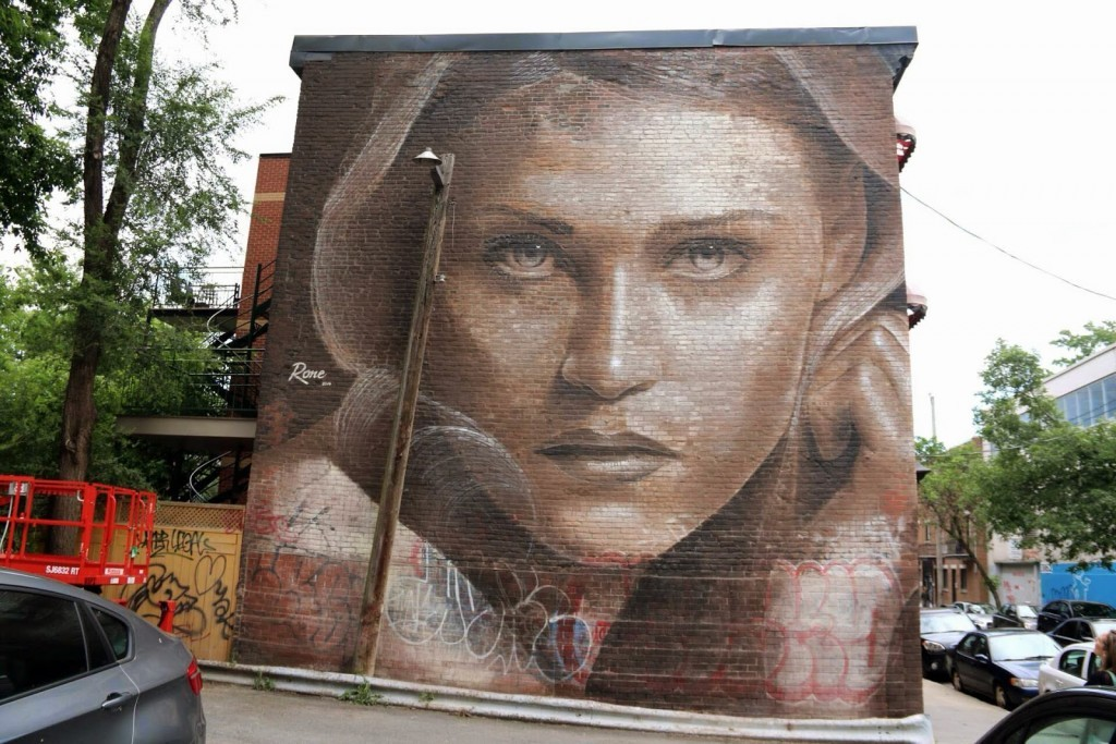 RONE New Mural – Montreal, Canada