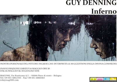 "Guy Denning Solo Show ""INFERNO"" Italy 14th May"
